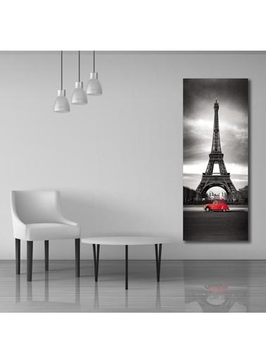 Chic Life Chic Life Eyfel Kulesi Manzara Kanvas Tablo - 30 x90cm Renkli
